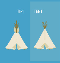 tourist indian or tipi tents for outdoor vector image