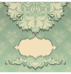 vintage pattern with frame vector image