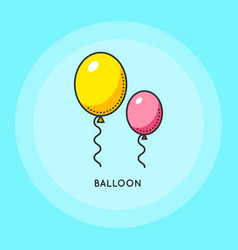air balloons for party vector image