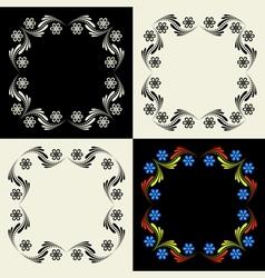 Decorative framework Set vector image vector image
