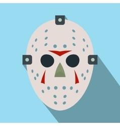 Halloween hockey mask flat icon vector image