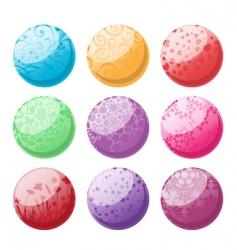 decorative balls set vector image