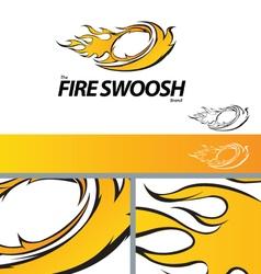 Fire Swoosh Abstract Symbol Branding Design Elemen vector image