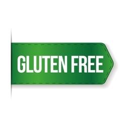 Gluten Free sign ribbon vector image
