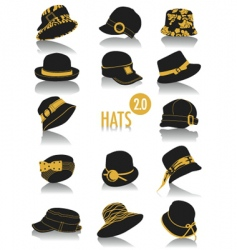 hats silhouettes vector image vector image