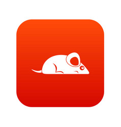 Pet mouse icon digital red vector