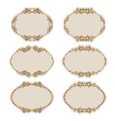 set of ornate frames vector image