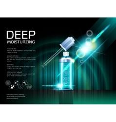 Skin serum toner template glass droplet bottle vector image vector image