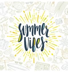 Summer holidays greeting card vector image vector image
