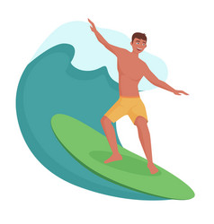 surfer on the wave vector image