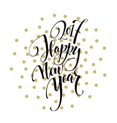 2017 Happy New Year Golden greeting card vector image