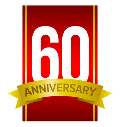 60 anniversary - label for celebration vector image