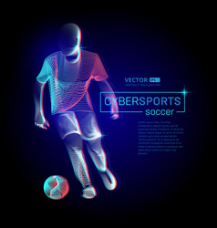 abstract football or soccer player male figure in vector image
