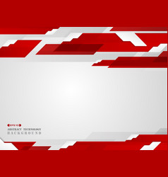 abstract of futuristic gradient red stripe line vector image