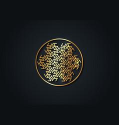 Antahkarana gold mandala ancient symbol healing vector