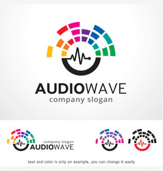 Audio wave logo template design vector