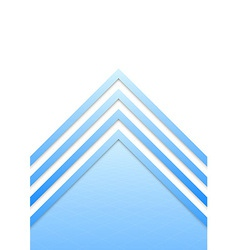 Blue border arrow lines background vector
