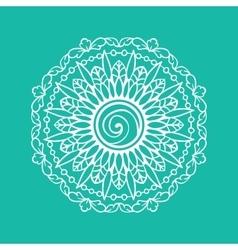 Blue round ornamental mandala Simple pattern for vector
