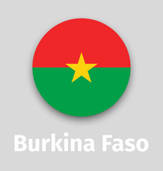 burkina faso flag round icon vector image