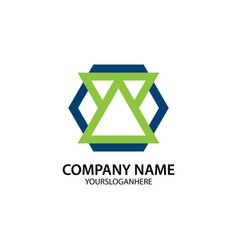 business company logo shape polygon vector image