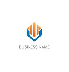 Business graph economy building geometry logo vector