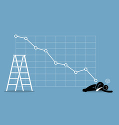 businessman fainted on the floor as the stock vector image
