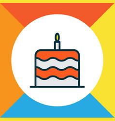 Cake icon colored line symbol premium quality vector