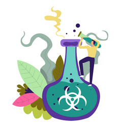 Chemical substance to save people and mankind vector