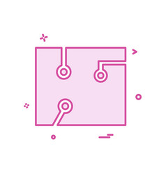 circuit icon design vector image