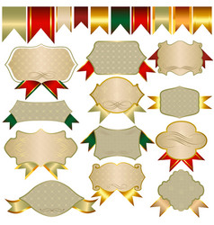Collection of banners and ribbons for design vector