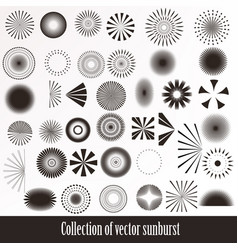 Collection of retro sunbursts for design vector