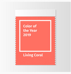 color of the year 2019 color trend palette vector image