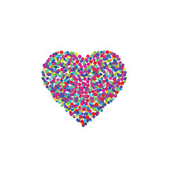 colorful heart love symbol with circles vector image