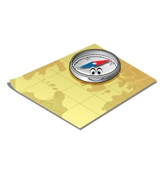 Compass on a map vector