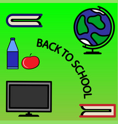 composition on school time vector image