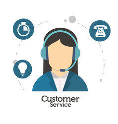 customer service character operator vector image