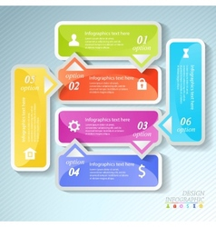 Design business infographics six successive vector image