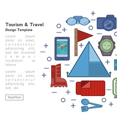 Example of flyer tourism vector image