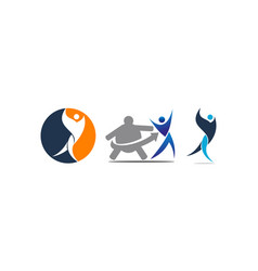 fitness solution template set vector image