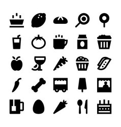 Food and Drinks Icons 3 vector image