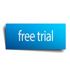 Free trial blue paper sign on white background vector