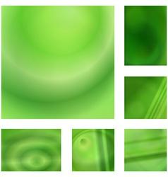 Green gradient abstract background design set vector