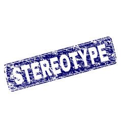 Grunge stereotype framed rounded rectangle stamp vector