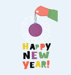 happy new card vector image