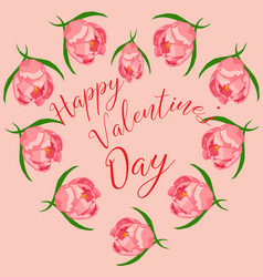 happy valentines day greeting card design template vector image