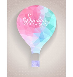 Hot air balloon in retro style vector image
