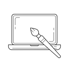 layout design line icon vector image