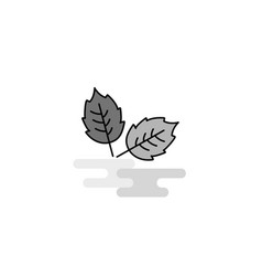 leafs web icon flat line filled gray icon vector image