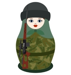 Matryoshka with a sniper rifle vector