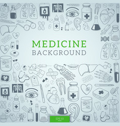 medicine icons and text vector image